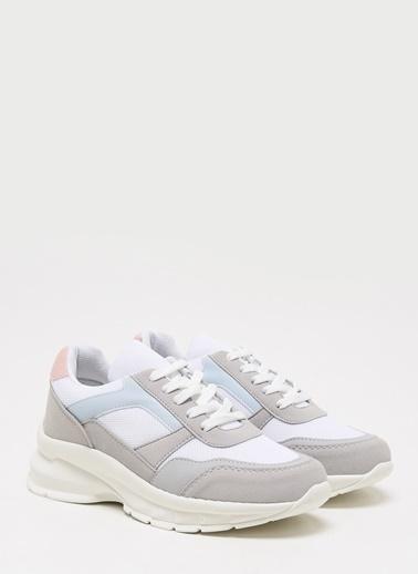 F By Fabrika Kadın Bej Sneakers SERENA Beyaz